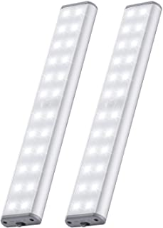24 LED 6 Adjustable Lights 2020 Upgraded Cool White Cupboard Lights Motion Sensor Indoor Wireless USB Rechargeable Battery...