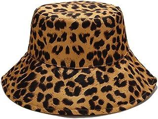 Joylife Leopard Print Bucket HatLepord Print Bucket Hat Trendy Animal Pattern Fisherman Hats for Women Reversible Packable...