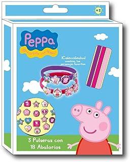 Peppa Pig - Set 3 Pulseras y 18 Colgantes, 21 x 15 cm (Cerdá 2502-240)