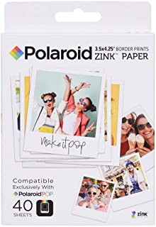 """Polaroid POL ZL3X440 Zink Instant Print Photo Paper Compatible with Polaroid POP 2.0, 3.5x4.25"""", Pack of 40"""