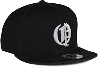 4sold Snapback Hat with Raised 3D Embroidery Letter Baseball Cap Hip-Hop Cap Hat Headwear (One Size, Q)