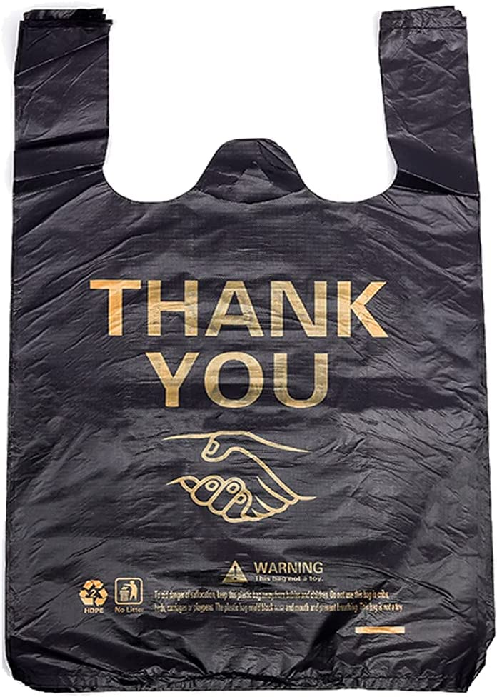 New sales 50 pcs Large Thank You 67% OFF of fixed price Plastic Bag Shirt Small Bags T Busine for
