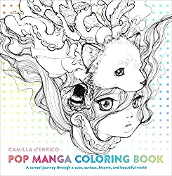 pop manga coloring book