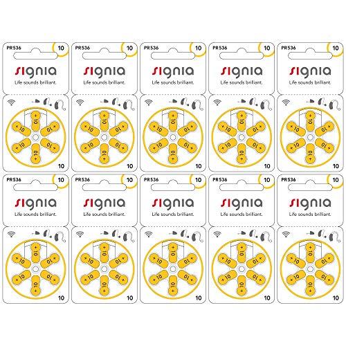シグニア 補聴器用空気電池 PR536(10) 【黄色】 10パックセット デジミミ2などに