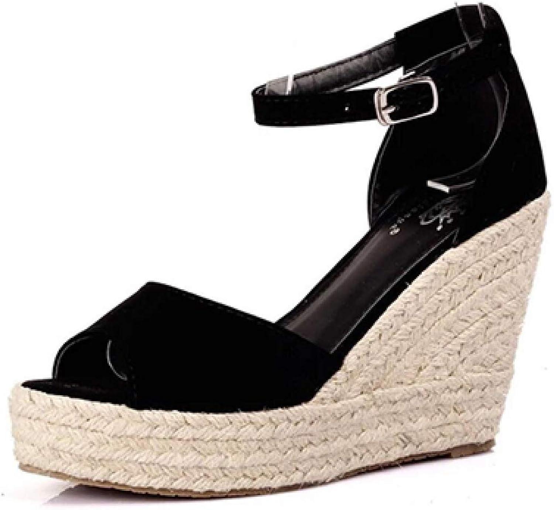 MEIZOKEN Womens Peep Toe Espadrille Wedges Sandal Summer Ankle Strap Platform High Heel Slide Sandals