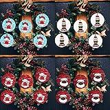 Richo 2020 Adornos de Navidad, 25 piezas de madera para colgar, adornos para familia, decoración de árbol de Navidad para vacaciones, bodas y fiestas
