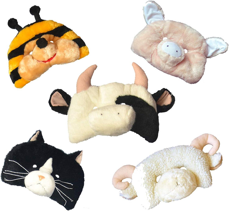 Lustige Tiermasken für Kinder, 3D-Kostüm, Plüsch, 50 Stück