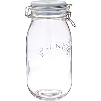 Frasco de vidrio de boca ancha de 1 galón (128 oz / 3.7L) con ...