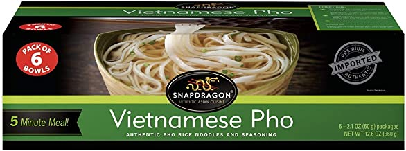 Snapdragon vietnamese Pho Bowls, 12.6 Ounce ( Pack of 6 Bowls )