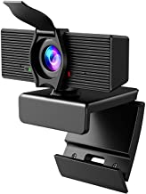 Webcam with Microphone & Privacy Cover, 1080P HD Web Computer Camera, USB Plug and Play Laptop PC Desktop Camera, Works wi...