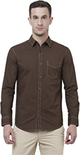 Mufti Slim Fit Solid Full Sleeve Shirt