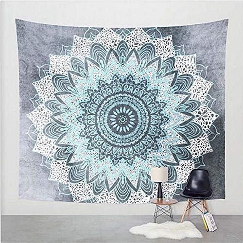 KHKJ Mandala Tapiz Estilo Hippie Colgante de Pared Revestimiento de Pared Estera de Yoga decoración del hogar Toalla de Playa Mantel A2 200x150cm