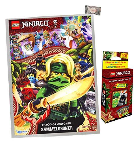 Lego Ninjago Karten Trading Cards Serie 6 - Die Insel (2021) - 1 Sammelmappe + 1 Blister + stickermarkt24de Gum