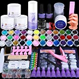 CURKEY Acrylic Nail Kit - Clear Acrylic Powder With Liquid Monomer Rhinestones For Nails - 36 Colors Glitter Acrylic Powder And Liquid Set With Everything For Beginner Professional