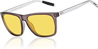 Duco Night Driving Glasses for Headlight Anti-glare Night Vision Glasses With Yellow Lenses 3029