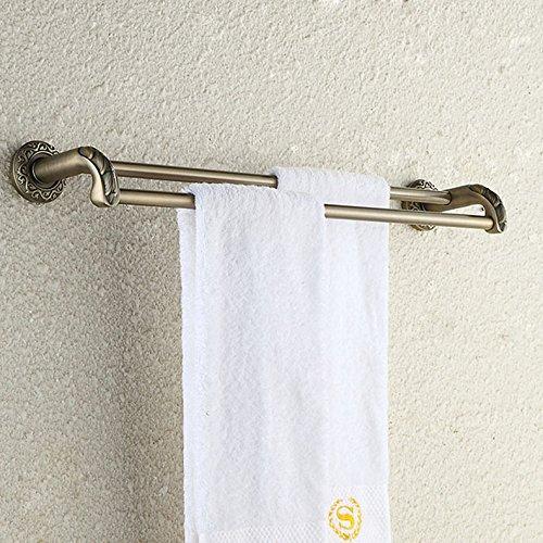Redhj Turmaufhänger Badezimmer Gold Doppel Pole antiken Handtuchhalter geschnitzten Doppel Regalen Kupferrohr Badezimmer fünf Anhänger