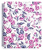 Vera Bradley Pink/Purple Floral Large Spiral Notebook, 11' x 9.5' with Pocket and 160 Lined Pages, Hummingbird Ditsy