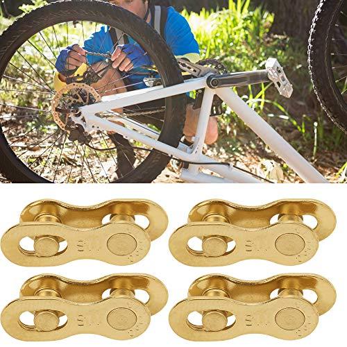 4Paar Bike Chain Link Fiets Quick Release Anti-Roest Speed Chain Link met 3 Kleuren voor Mountain Road Bike