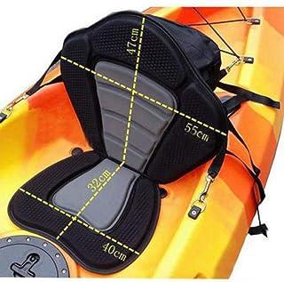 ACHICOO Asiento Acolchado Ajustable para Kayak con Bolsa de Almacenamiento, Respaldo para Canoa, cojín para la Deriva, Productos para Exteriores