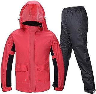 PPCP Raincoat (Raincoat and rain Pants Suit) Adult Female Thin Raincoat rain Pants Suit Split Riding Outdoor Hiking Rainco...