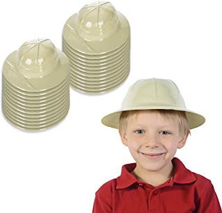 Funny Party Hats Safari Hat Party Favor - Jungle Party Supplies - Pith Helmets for Kids - Safari Party Supplies (24 Pack)