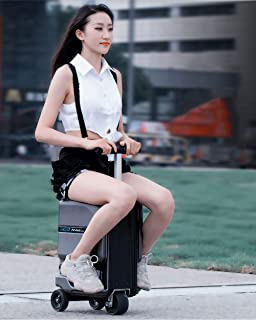 Smart Electric Scooter Suitcase Fashion Trolley Suitcase, 26L Large Capacity Removable lithium ion Battery