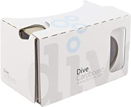 Durovis Dive Card Board 6–Bianco–Virtual Reality Headset Inspired By Google Cardboard V2–per giochi 3d, Film, Video, Video in Play e iTunes Store–per Android & ios smartphone fino a 6pollici