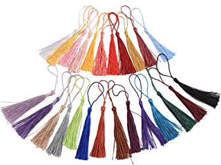 CCINEE 13cm/5 Inch Handmade Mini Tassels with Loops for DIY Projects Bookmarks-100 Pieces