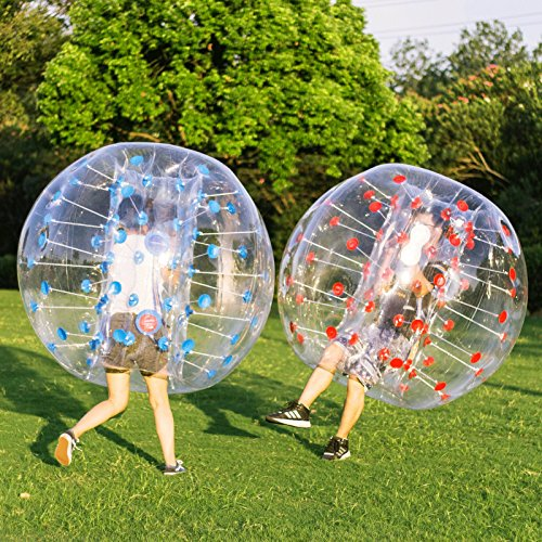 Happybuy Inflatable Bumper Ball 2pcs 5ft Diameter Bubble Soccer Ball Blow Up Toy in 5 Min Inflatable...