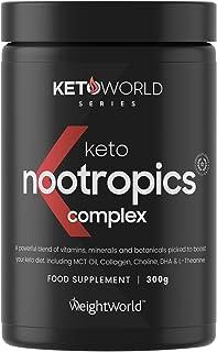Nootrópico Suplemento Natural Vegano en Polvo 300gr, Vitaminas y Minerales Para el Cerebro, Keto - Complejo Multivitamínico Para Concentración y Memoria, Reduce Cansancio y Fatiga, KetoWorld