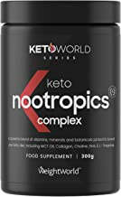 KetoWorld Keto Nootropic Powder 300g – Nootropics Cognitive Enhancer Supplement for Keto Diet Carb Free Brain Booster with MCT Oil Powder Multivitamin Mineral Brain Food Supplement Estimated Price : £ 19,99