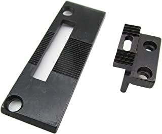 KUNPENG - #240144+264510 Needle Plate and Feed Dog Fit for Singer 111G 111W 211G 211U 211W Consew 225 226