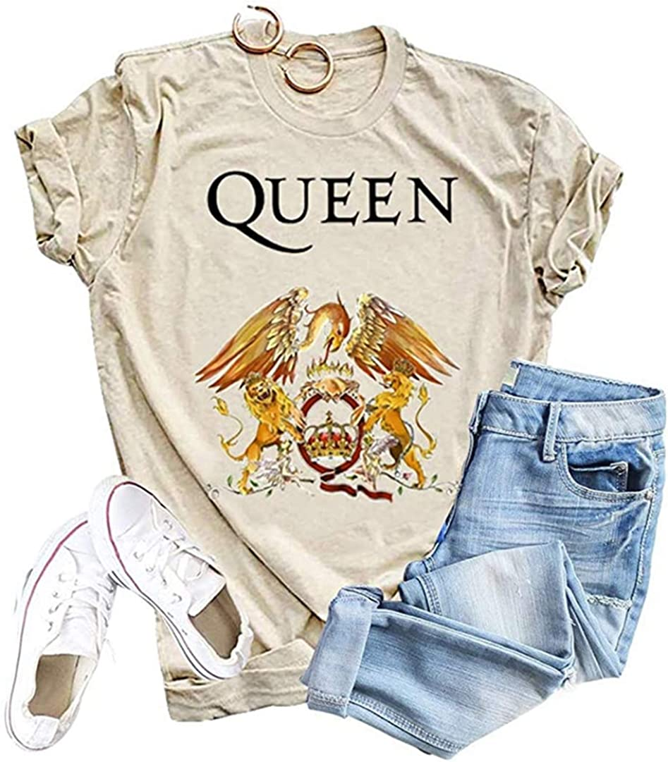 Womens Vintage Shirt Music Concert Tees Summer Short Sleeve Casual Graphic Tees