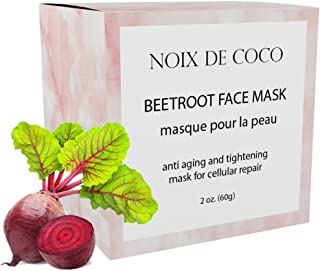 Noix de Coco Organic Superfood Face Mask - Reduces Pores & Acne - Tightening & Hydrating - All Natural, Vegan, Cruelty Free, Non-Toxic (Beetroot)