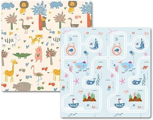 Faltbare Babyspielmatte - XPE-Schaum Größe Weißhe Baby-Krabbeldecke Spielmatte Für Baby-Kinder, Wasserdichte, Reversible Yoga-Gymnastikmatte (Größe   300×180×2cm)