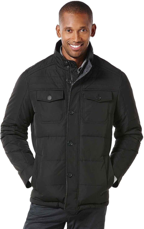 Perry Ellis Men's Big Quilted Four Pocket Jacket