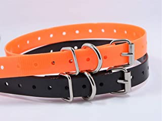 TrainPro 2-Pack Replacement Dog Training Shock Bark e Collar TPU Plastic Strap Band Buckle 3/4