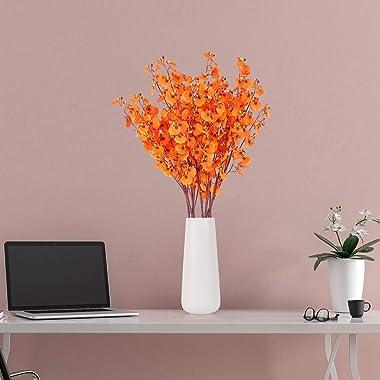 HANTAJANSS Artificial Orchids Flowers, 8 Pcs Orchids Silk Fake Flowers in Bulk Flowers Artificial for Indoor Outdoor Wedding