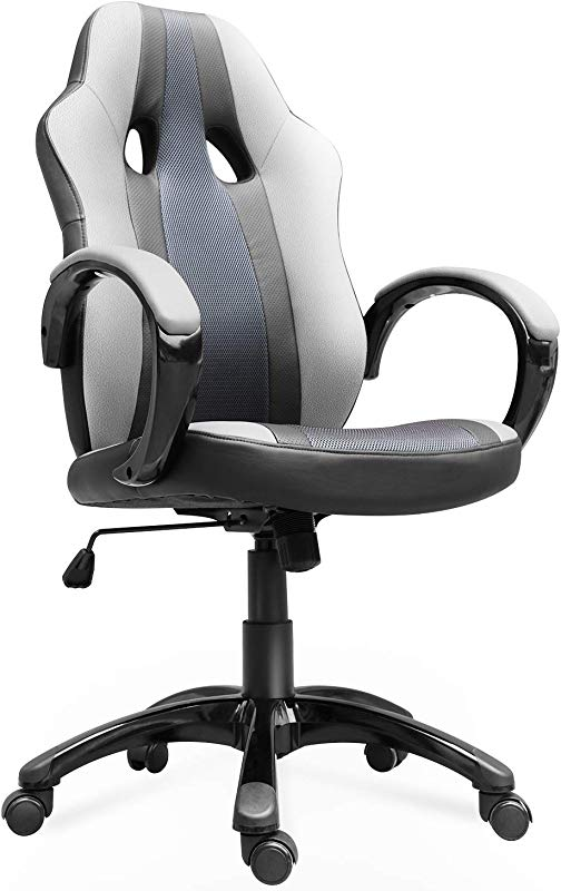 Smugdesk Office Chair High Back Ergonomic Gaming Desk Chairs For Computer With Lumbar Support Bonded Leather Adjustable Swivel Comfortable Rolling Chair
