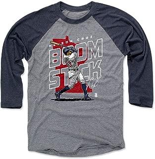 500 LEVEL Nelson Cruz Shirt - Minnesota Baseball Raglan Tee - Nelson Cruz Player Map