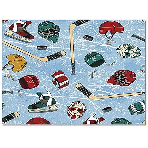 Impresión Alfombrillas Zapatillas Deporte Hockey Abstractas Retro Alfombras para Sala Estar Alfombra Cabecera para El Hogar Sofá Y Manta Mesa Centro Alfombra Piso Oficina