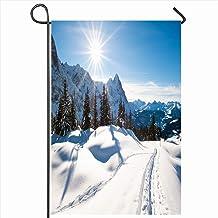 PQU Awesome Home Flag,Paisaje Paisaje Panorámico sobre El Cielo Grindelwald Suiza Invierno Parques Naturales Vista A La Montaña Eiger Divertidas Banderas Estacionales Al Aire Libre,32x45.7cm
