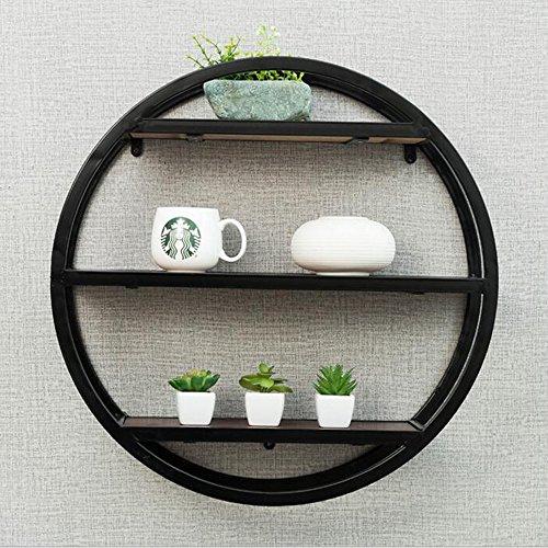 Planken DUO rekken 3 lagen massief hout ronde decoratieve plank opslag dingen 60 * 16 * 60 cm rekken