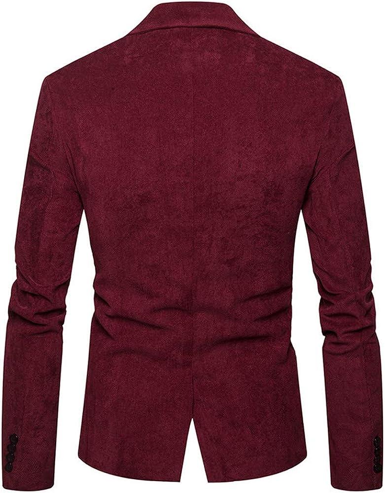 Veste Blazer Homme Veste en Velours C/ôtel/é Robe de Costume D/écontract/é Beau Haut