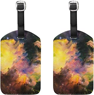 MASSIKOA Nebula Galaxy Space Starry Cruise Luggage Tags Suitcase Labels Bag,2 Pack