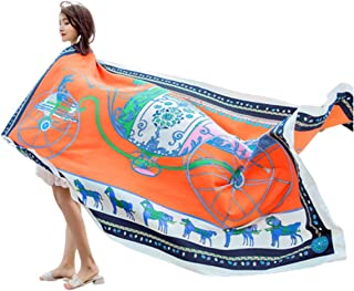 [PT&Key]スカーフ ストール 大判 夏 ひざ掛け ヨーロピアン馬具スタイル 130x180cm 肌触りの良いビーチスカーフ 羽織り 巻物