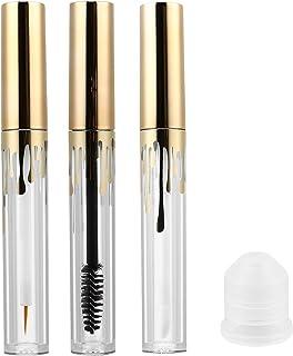 Beaupretty Tubo de rímel vazio de 4 ml, tubo de delineador, frasco de brilho labial, recipiente transparente para cílios p...