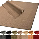 Floordirekt 100% reines Sisal | Sisalteppich vielen Größen (Kork, 80 x 150 cm)