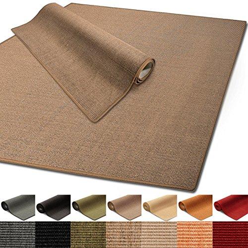 Floordirekt 100% reines Sisal | Sisalteppich vielen Größen (Kork, 140 x 200 cm)
