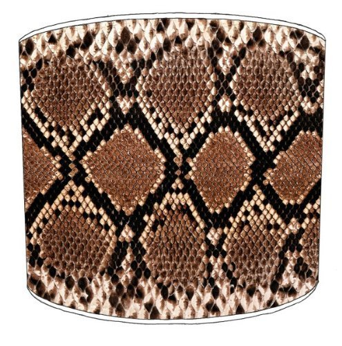Premier Lampshades - 8 Inch Ceiling Snake Skin Print Animal Print Shade